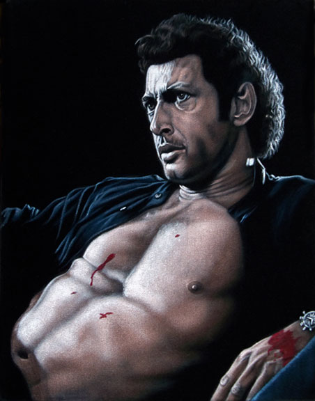 Ian Malcolm Jeff goldblum Black velvet painting