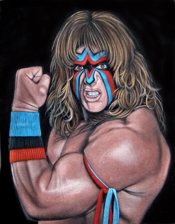 ultimate warrior velvet painting