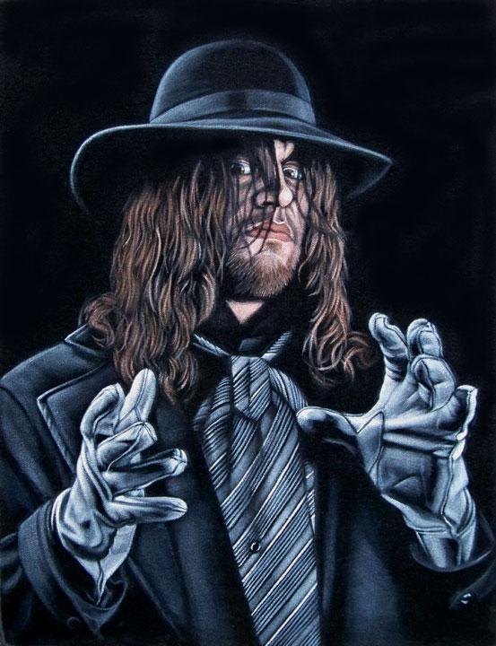 undertaker wwe velvet painting