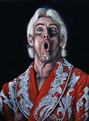wwe black velvet painting