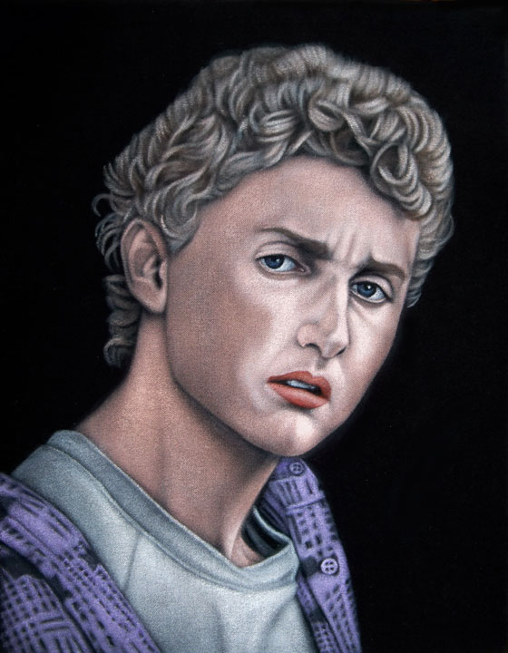 bill ted black velvet painting