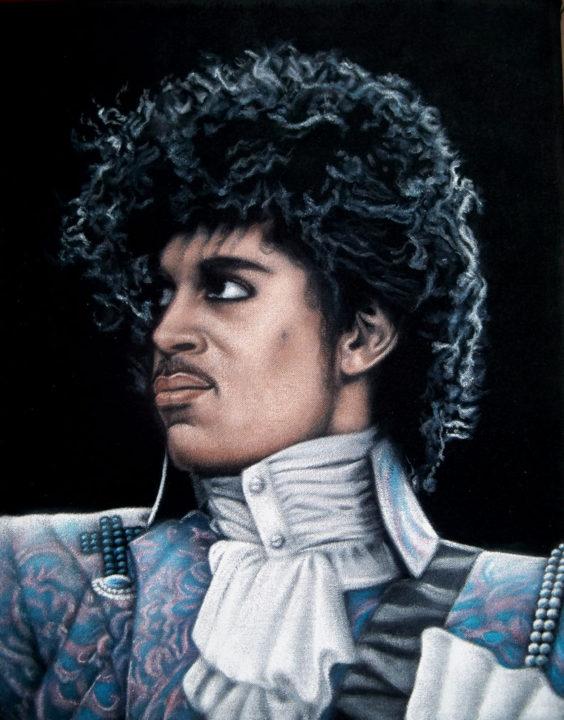 Prince black velvet painting