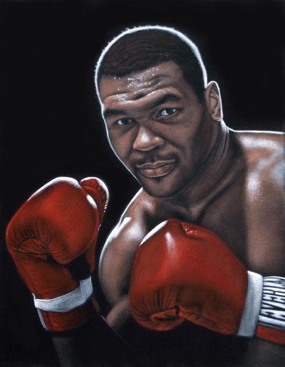 Iron Mike Tyson black velvet painting