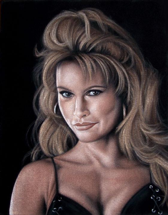 wwe sable velvet painting