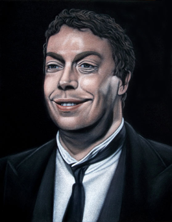 Wadsworth Clue Tim Curry velvet painting