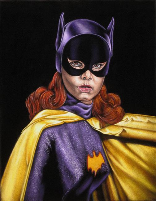 batgirl 66 black velvet painting