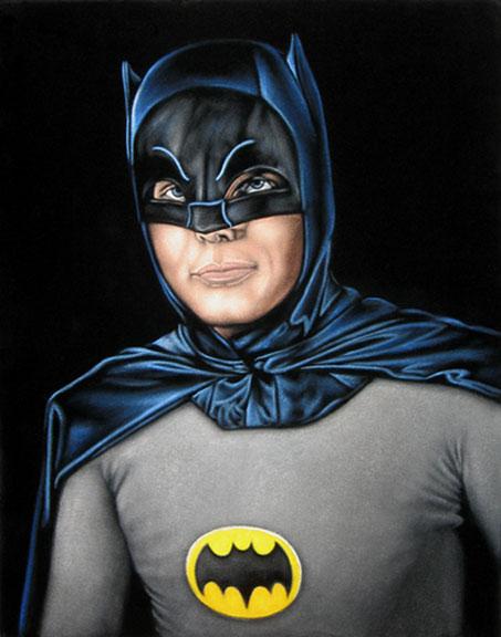 batman velvet painting