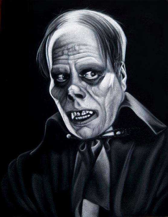 black velvet painting Phantom Universal Monsters