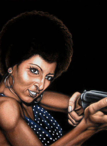 coffy velvet painting