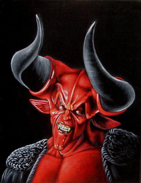 darkness legend black velvet painting
