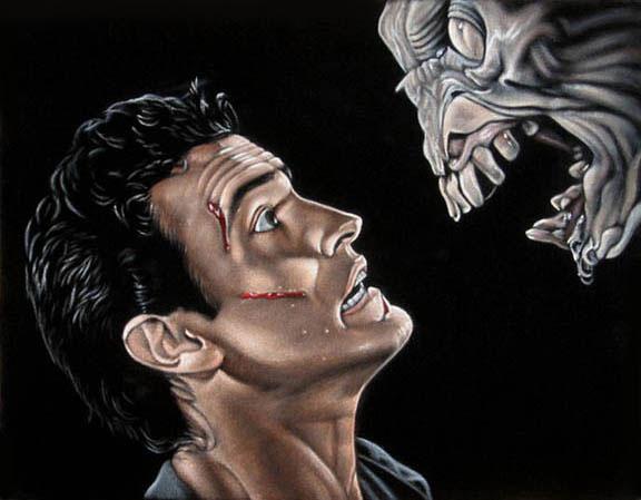 evil dead velvet painting