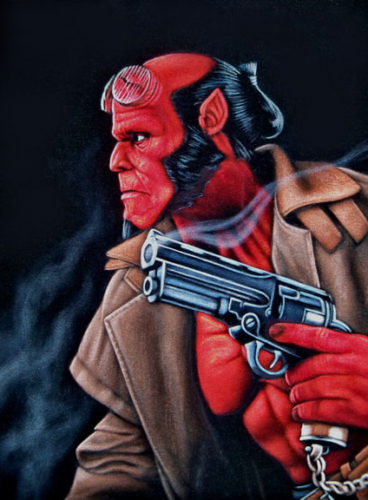 hellboy velvet painting