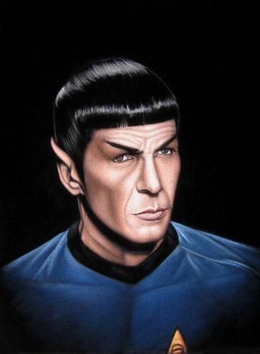 spock velvet painting