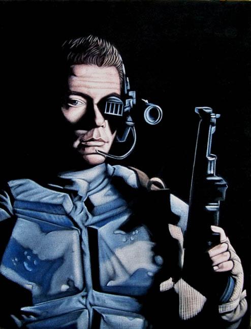 universal-soldier-black-velvet-painting