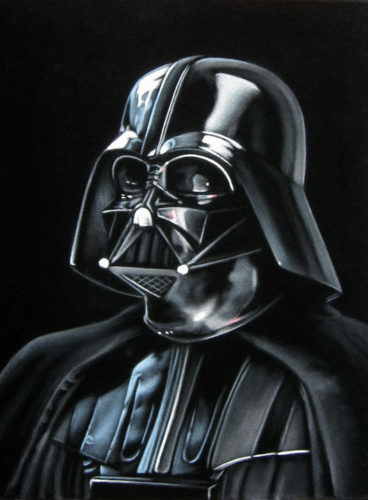 darth vader star wars velvet painting