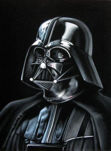 darth vader star wars velvet painting