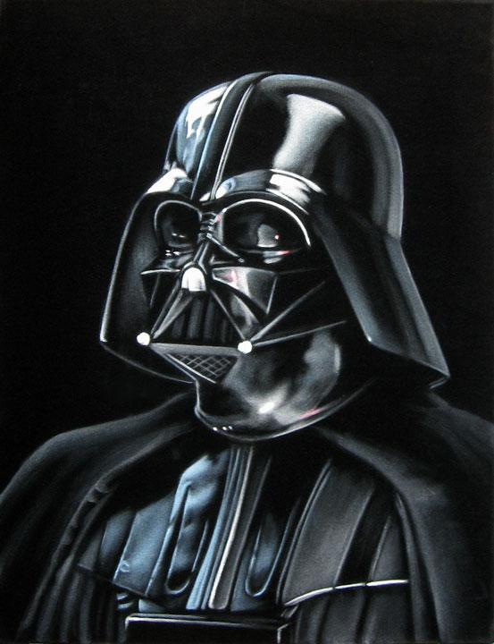 vader star wars velvet painting