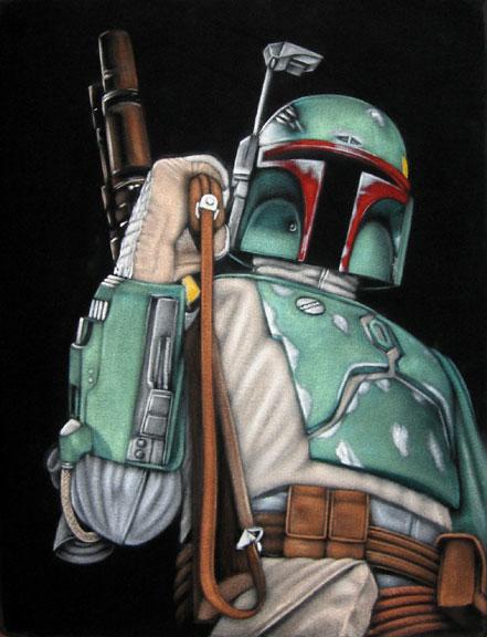 """velvet painting boba fett star wars"""" width="""