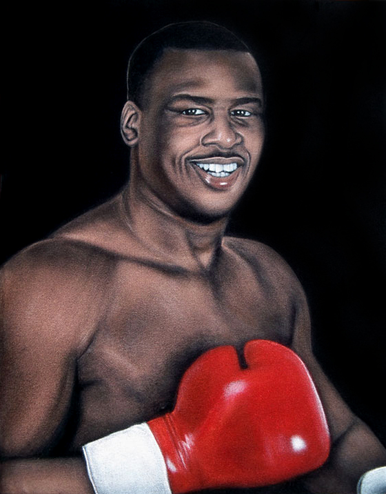 velvet painting Buster Douglas