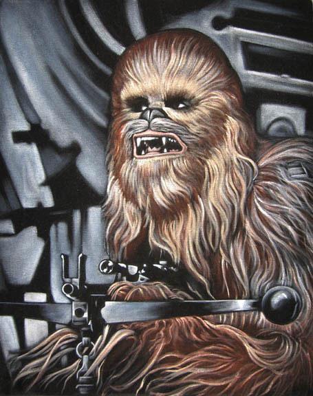 velvet painting chewie