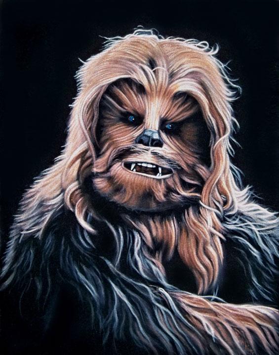 velvet painting Chewie chewbacca star wars