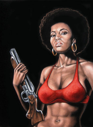 velvet painting coffy