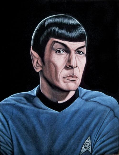 velvet painting fascinating Spock star trek' width=