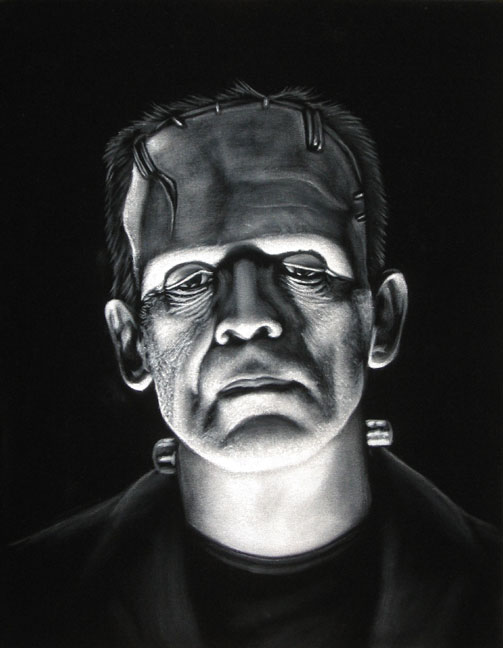 velvet painting frankensteins monster