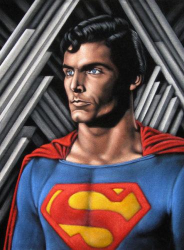 velvet painting superman