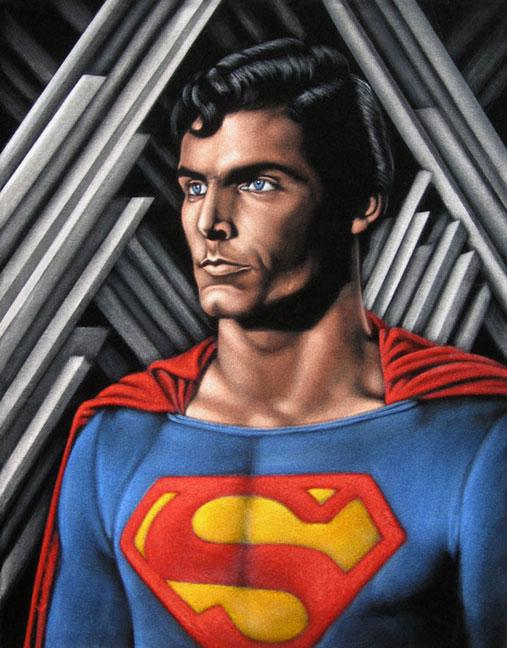 black velvet painting superman christopher reeve