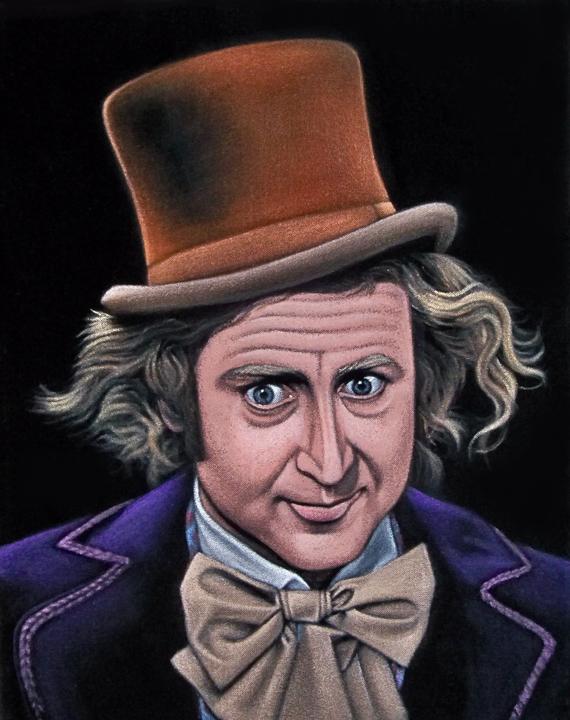 velvet painting Willy wonka