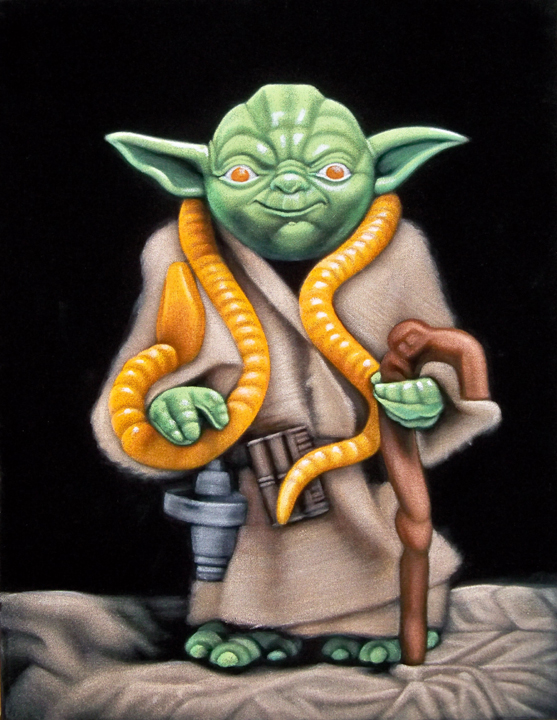 velvet painting yoda Kenner figure Star Wars