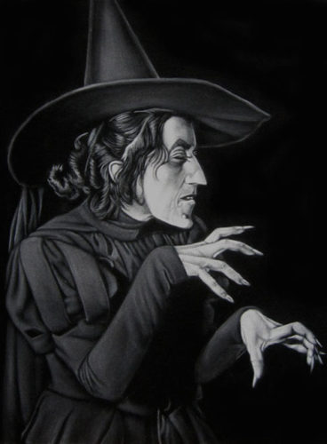 witch2 black velvet painting oz