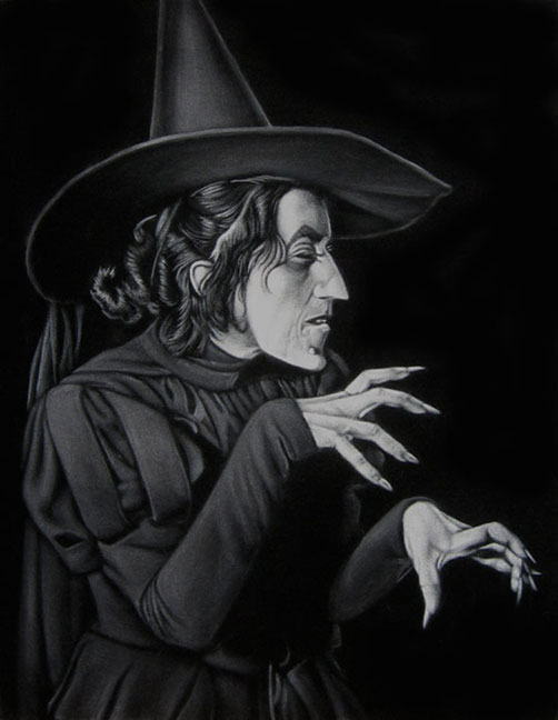 wicked witch oz velvet painting