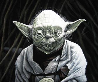 yoda velvet painting sm