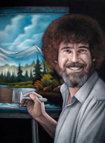 velvet painting BobRoss