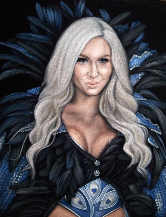 Charlotte Flair black velvet painting wwe