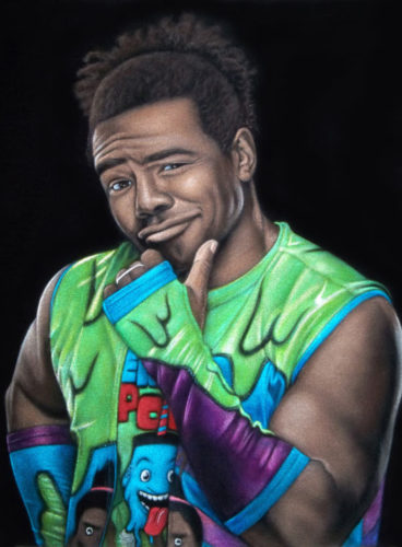 Woods wwe velvet painting