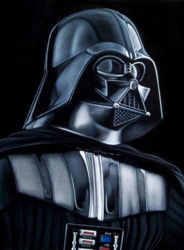 black velvet painting Vader 2018