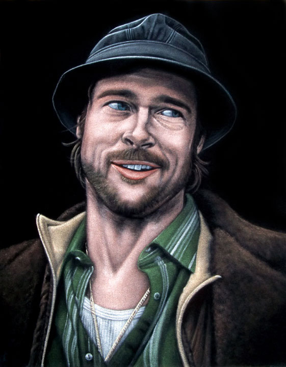 Mickey-black-velvet-painting-brad-pitt