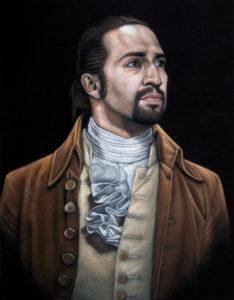 Hamilton velvet painting
