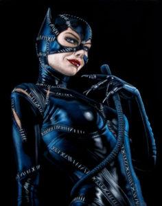 Catwoman-velvet-painting