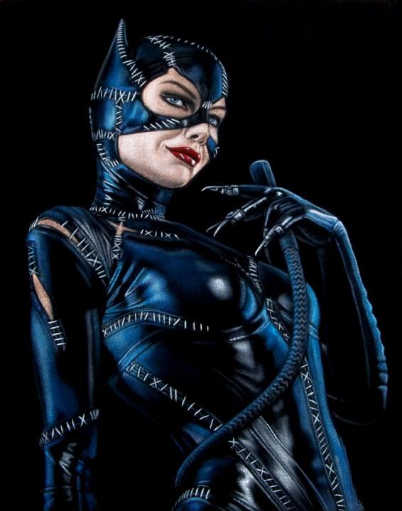 Catwoman-Batman-black-velvet-painting