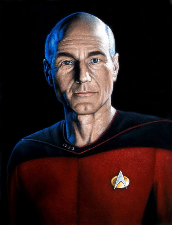 Picard-star-trek-black-velvet-painting-A