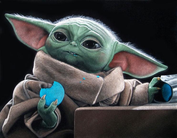 baby-yoda-black-velvet-painting-star-wars