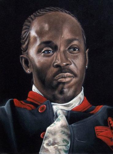 Omar Little black velvet painting