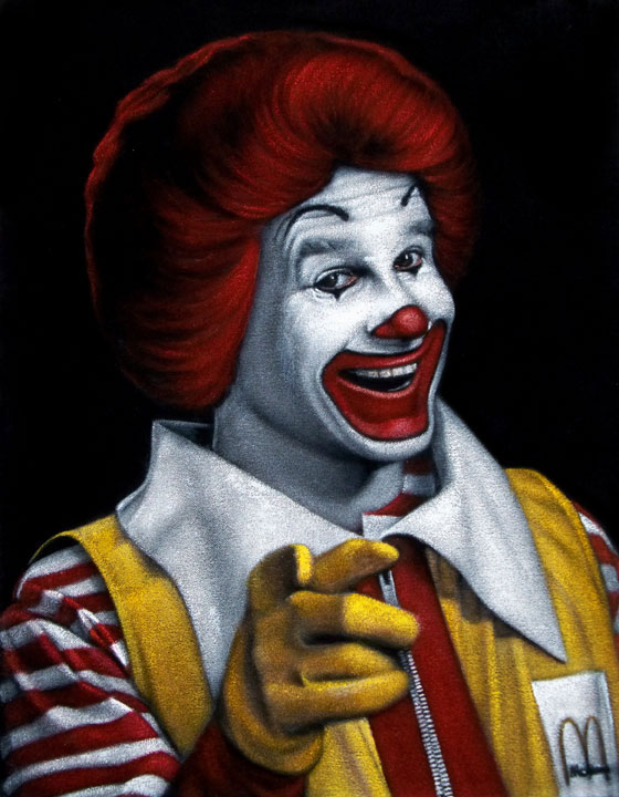 Ronald-McDonald-velvet-painting