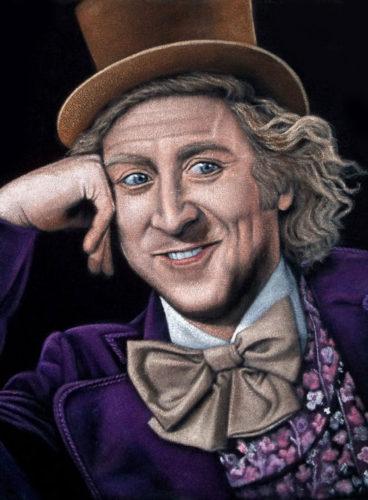 Willy Wonka black velvet painting