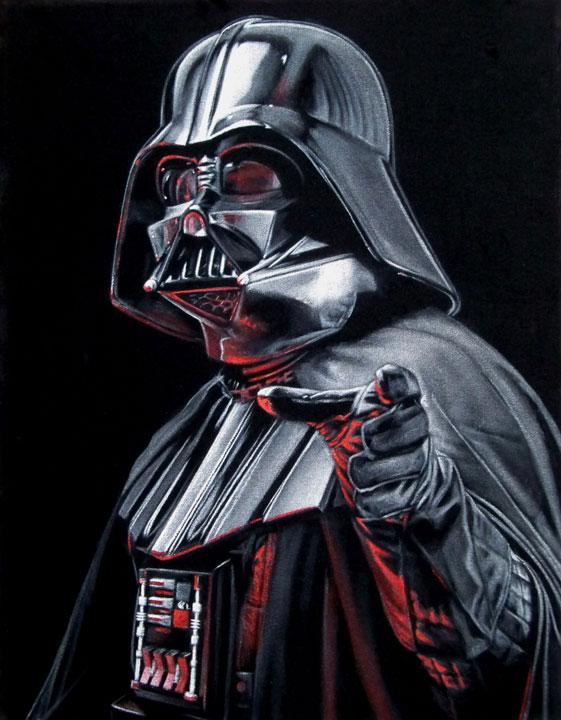 Darth Vader black velvet painting